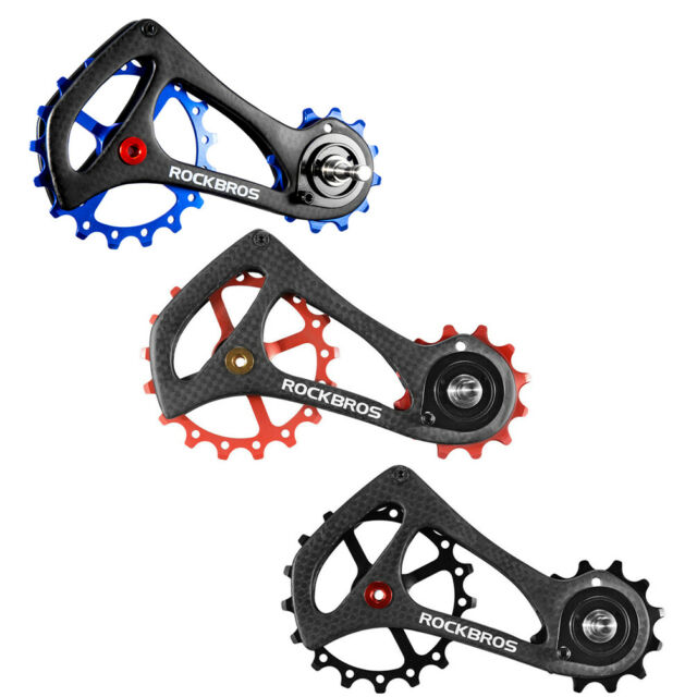 RockBros Bicycle Rear Derailleur Cage Pulley Kit Carbon Fiber for Sram Di2 Style