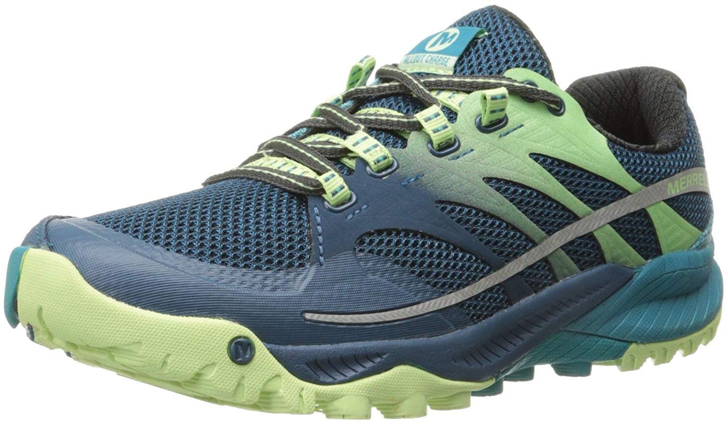Merrell All Out Charge damen Trail Running schuhe - Blau