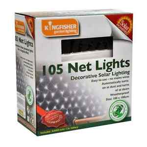 105-WHITE-LED-SOLAR-POWER-NET-LIGHTS-DECORATIVE-FAIRY-GARDEN-OUTDOOR-PARTY-XMAS