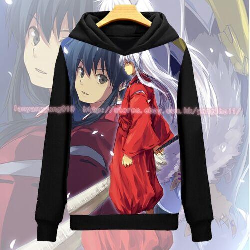 Anime InuYasya Cosplay Long Sleeve weatshirts Hoodies Coat InuYasha Gift #A-74