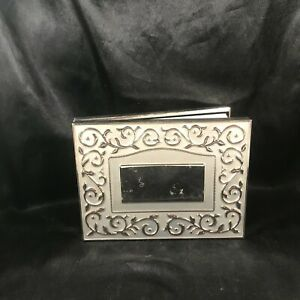 LENOX Silver Plate Wedding Photo Album Opal Innocence