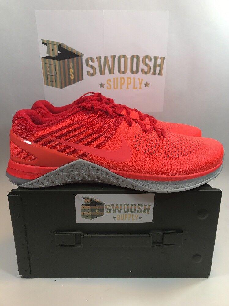 Nike metcon dsx flyknit 852930-800 totale crms-hypr orange Uomo sz 13