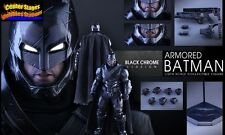 Hot Toys Superman Dawn Of Justice Armored Batman Black Chrome Ver NEW