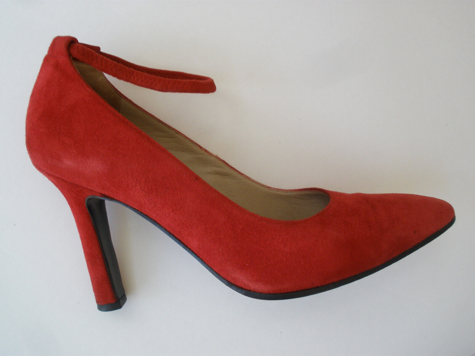 VIA SPIGA ROT LEATHER HOT PUMP HEELS SIZE 6.5B HOT LEATHER SEXY  ITALY WOW UNIQUE 2c5312
