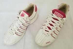 Womens Size 7.5 White Pink K Swiss