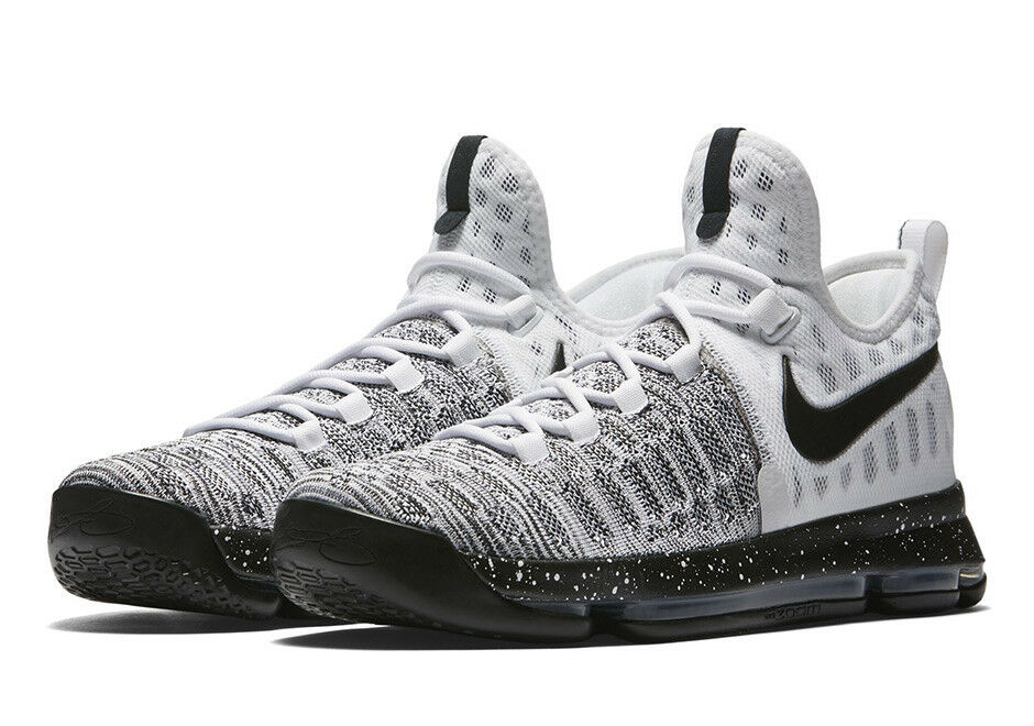 New Mens 18 NIKE KD IX Black White Oreo Basketball Shoes 200 843392-100