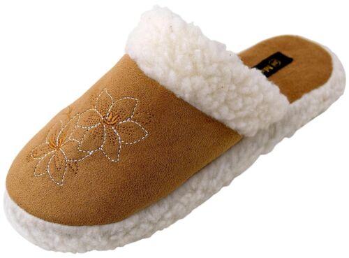 Femmes Chaussons Pantoufles Mules Doublure Chaussures Cabanes Chaussures 36-41