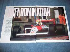 1988 Formula 1 Champion Ayrton Senna da Silva Season Highlights Article