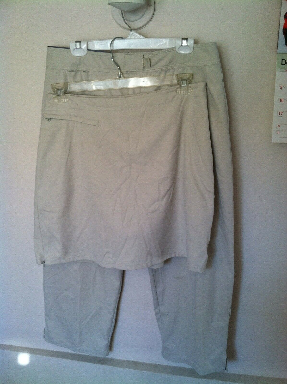 Lot Of 2 Patagonia Pataloha Women's Cropped Pants And Skort Polyester Sz 14