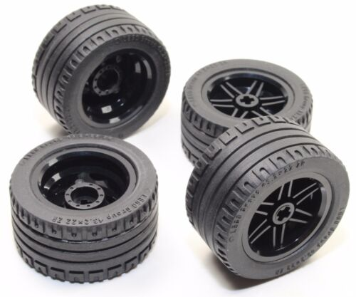 56145 44309 Mindstorms nxt ev3 tyre LEGO 8pc Technic BLACK Wheel and Tire SET