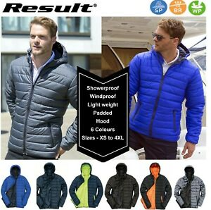 Mens-PADDED-Puffer-Hooded-Insulated-Light-Comfortable-WINTER-JACKET-XS-to-4XL