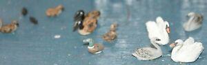 Waterfowl-Swans-ducks-Geese-etc-OO-Scale-Unpainted-Langley-F123