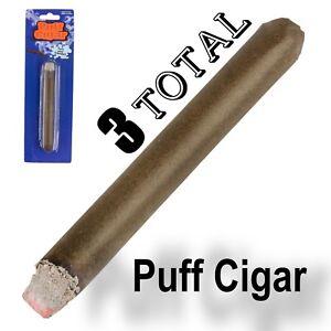 3 FAKE PUFF CIGAR Smoke Powder Magic Trick Joke Gag Prop Smoking Prank Toy