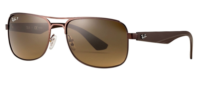 65922ef7753 ... clearance authentic ray ban polarized highstreet aviator sunglasses  brown rb3524 57mm 77d55 82e99