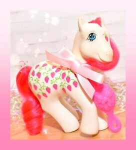My-Little-Pony-MLP-G1-Vtg-Twice-as-Fancy-Sugarberry-TAF-Strawberry-Fair-1987