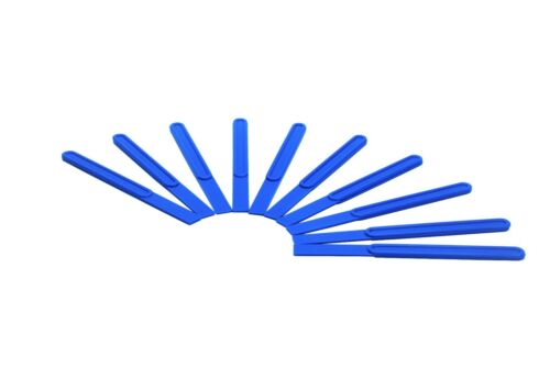 "10x Blue 1.5 x 0.3/"" Flexible End Plastic Glue Spreaders Craft PVA Spatula S7676"