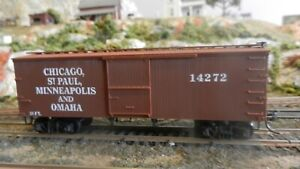 Roundhouse-MDC-HO-Old-Time-36-039-Boxcar-Omaha-Road-Upgraded-Exc