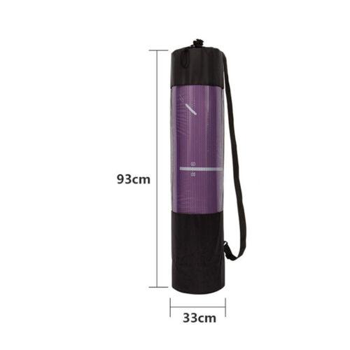 Yoga Mat Waterproof Backpack Yoga Bag Nylon Carrier Mesh Adjustable Strap 6H