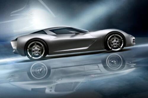 "Corvette Stingray Concept Poster #01 24x36/"""