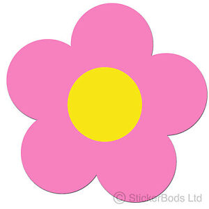 36 pink daisy flower stickers decals for car wall home ebay image is loading 36 pink daisy flower stickers decals for car mightylinksfo