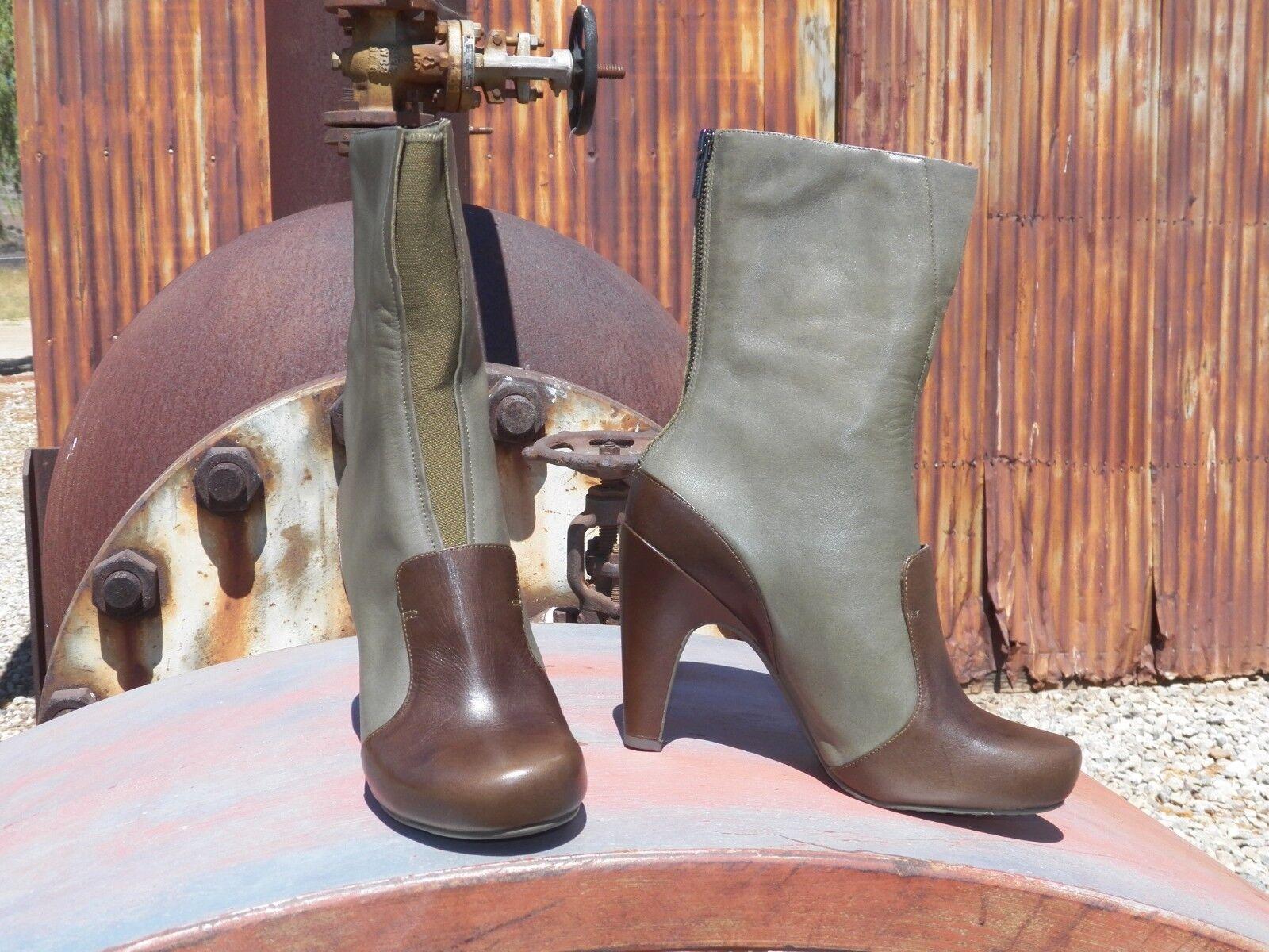 New Damenschuhe Modern Tsubo Emeline Tank Grün Leder Modern Damenschuhe Heel Stiefel All Größes 9ed123