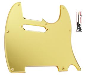 NEW-PICKGUARD-TELECASTER-gold-mirror-pour-guitare-tele