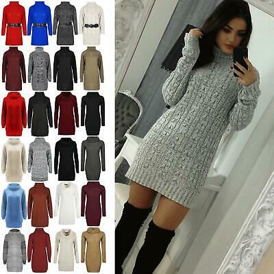 Women Ladies Round Neck Flared Long Sleeve Lace Up Knitted Baggy Oversize Jumper