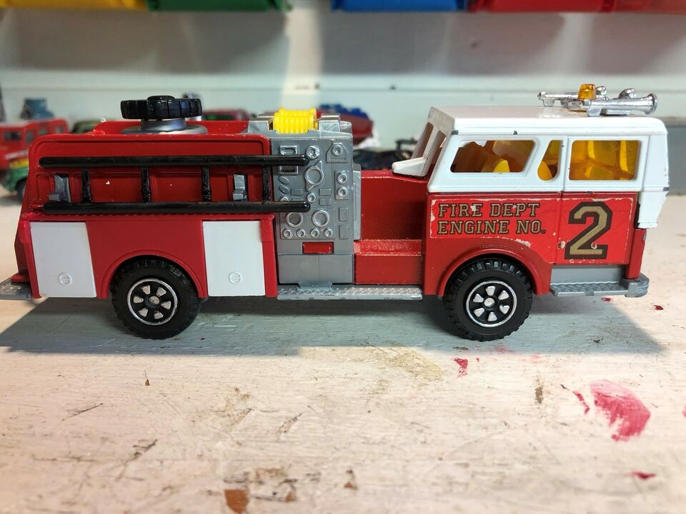 Modelbil, Majorette Pompe a incendie, skala 1/47