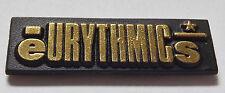 EURYTHMICS Vintage 1980`s Shaped Plastic Pin Badge #EU109