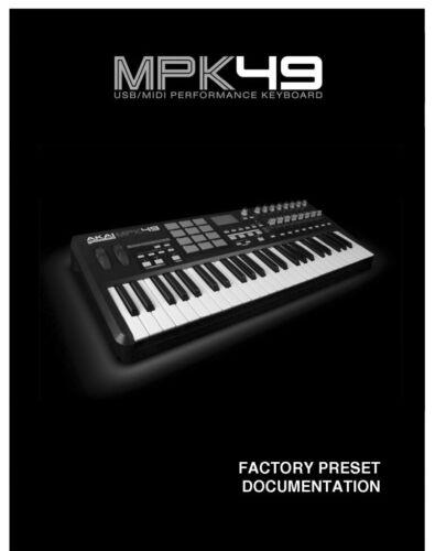 Akai MPK49  Owners Instruction Manual