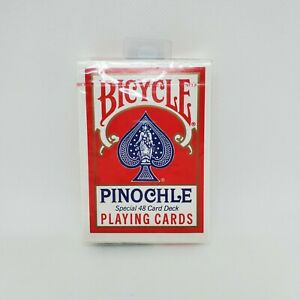 Bicycle Red Playing Cards Pinochle Special 48 Deck Blue Made in USA New Sealed