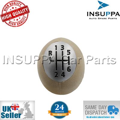 6 Velocità Pomello Del Cambio Beige Per Dacia Duster Dokker Lodgy Trafic Novel (In) Design;
