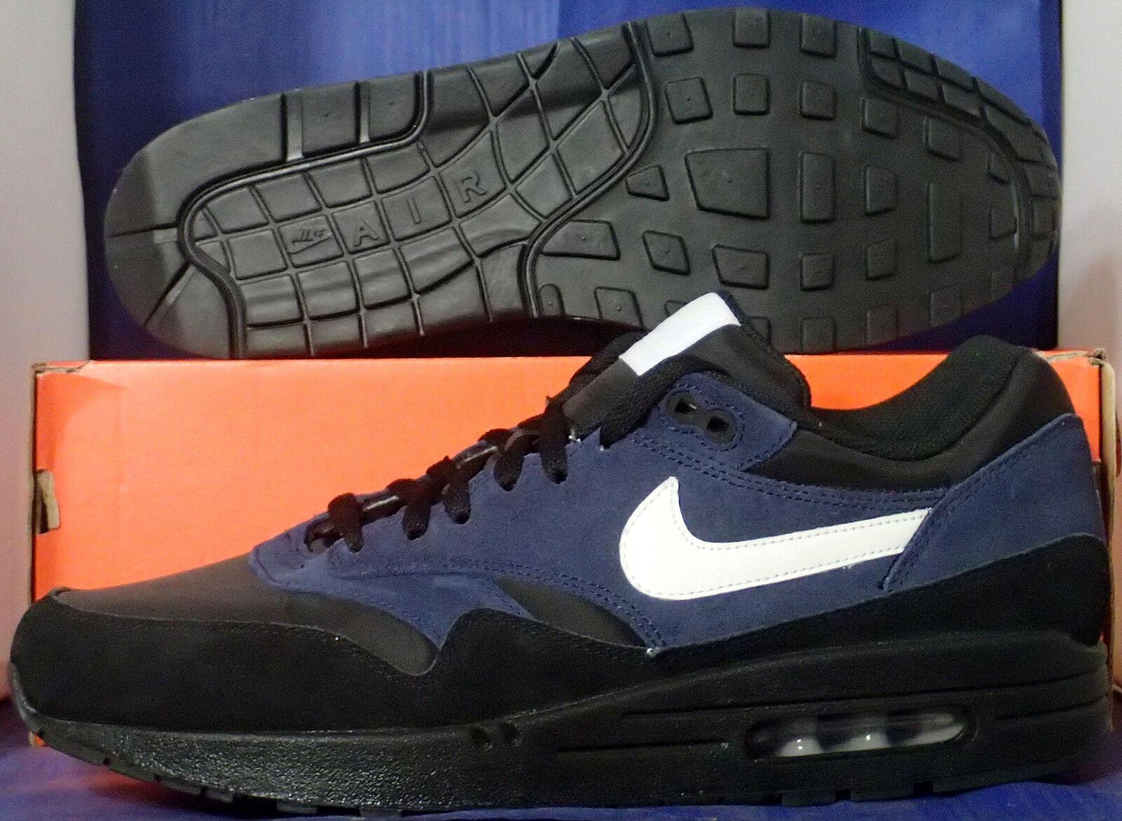 Nike Air Max 1 iD Black Navy Blue White SZ 12 ( 433213-998 )