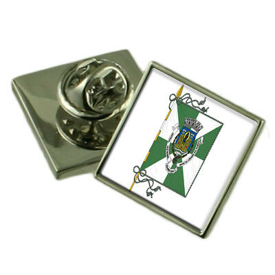 Ivory Coast Flag Lapel Pin Badge Solid Silver 925