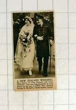 1920 New Zealand Wedding Miss Quane Weds Lieutenant Mcmaster