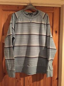 GEORGE-Mens-Blue-Striped-Long-Sleeved-Top-Size-M