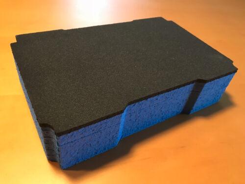 grau blau 60mm Koffereinlage Hartschaum f Tanos FESTOOL MINI-systainer T-Loc