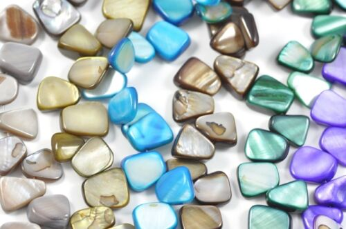 14mm Mother of Pearl Shell Nugget Beads for Jewellery Making Craft 1 string
