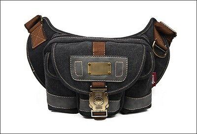 Vintage Military Men's Women's Canvas Satchel Shoulder Fanny Pack Belt Waist Bag