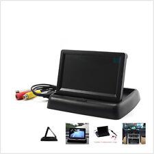 "Foldable 4.3"" LCD  TFT Car Display Monitor For CCTV camera/DVD player/ VCR UK"
