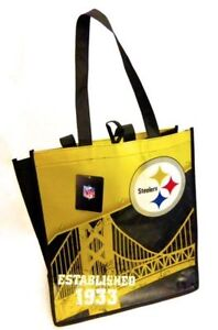 51e89322561 Image is loading NFL-Pittsburgh-Steelers-Grocery-Shopping-Reusable-bag