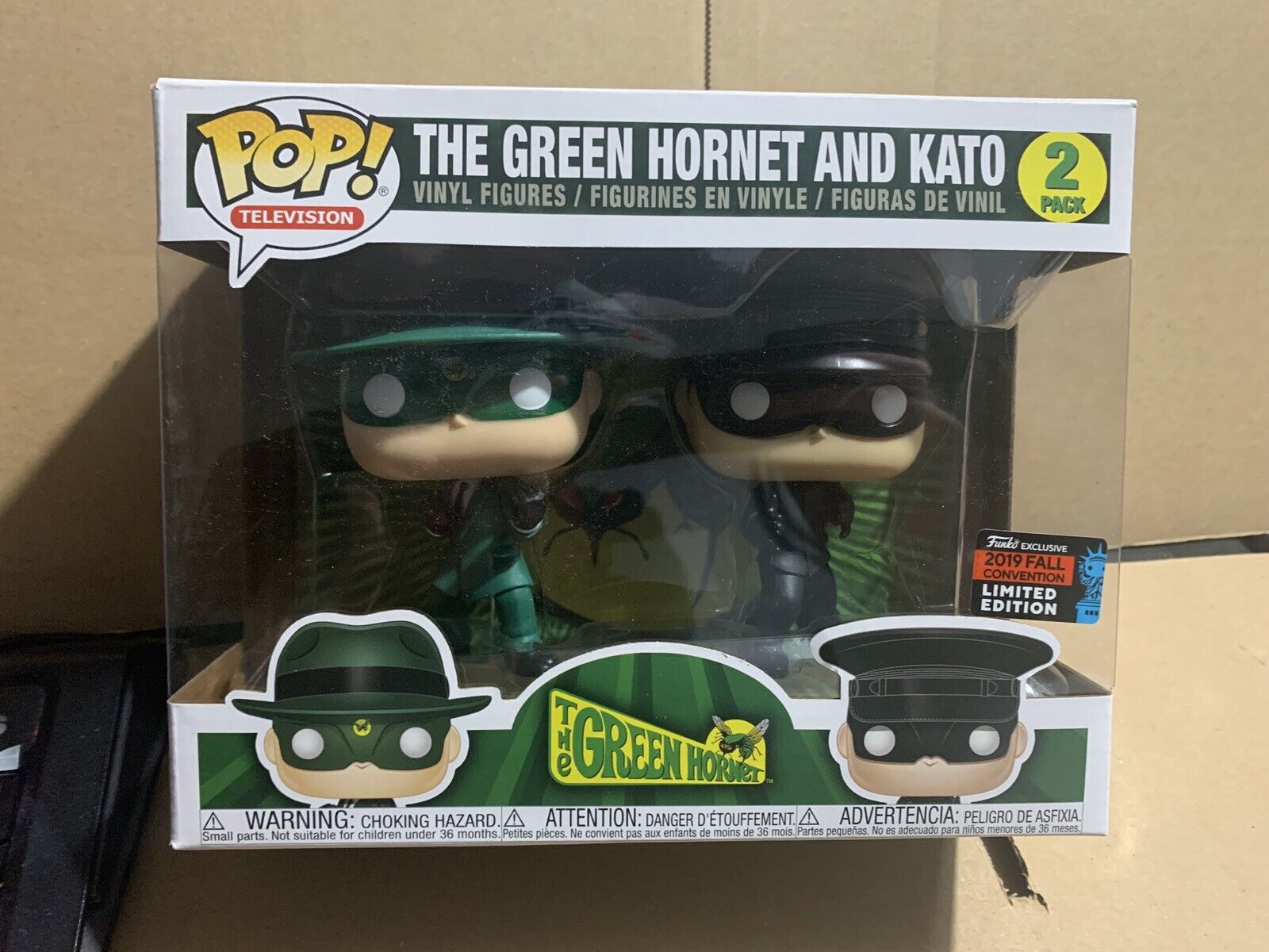 Funko Pop  Grün HORNET & KATO MASKED 2 Pack-NYCC Sharot Exclusive IN STOCK
