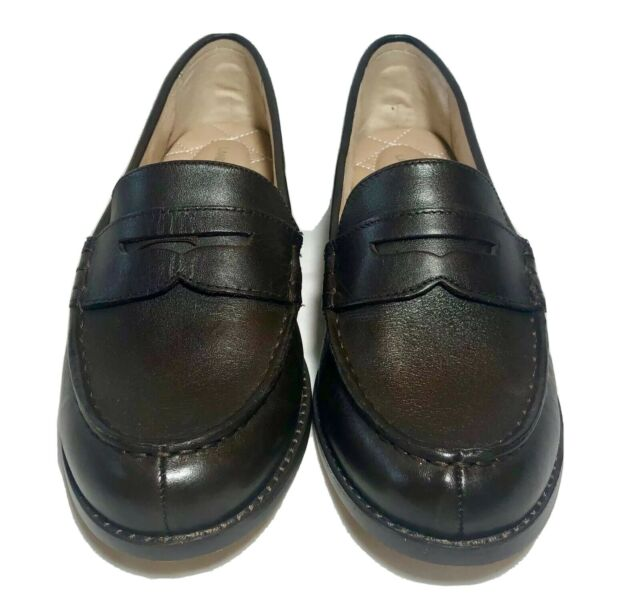 Lands' End Womens Brown Slip On Penny Loafers - Size 7.5 B ...