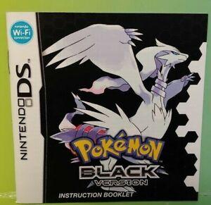 Pokemon Black Version  - Nintendo DS Manual ONLY  *NO GAME*