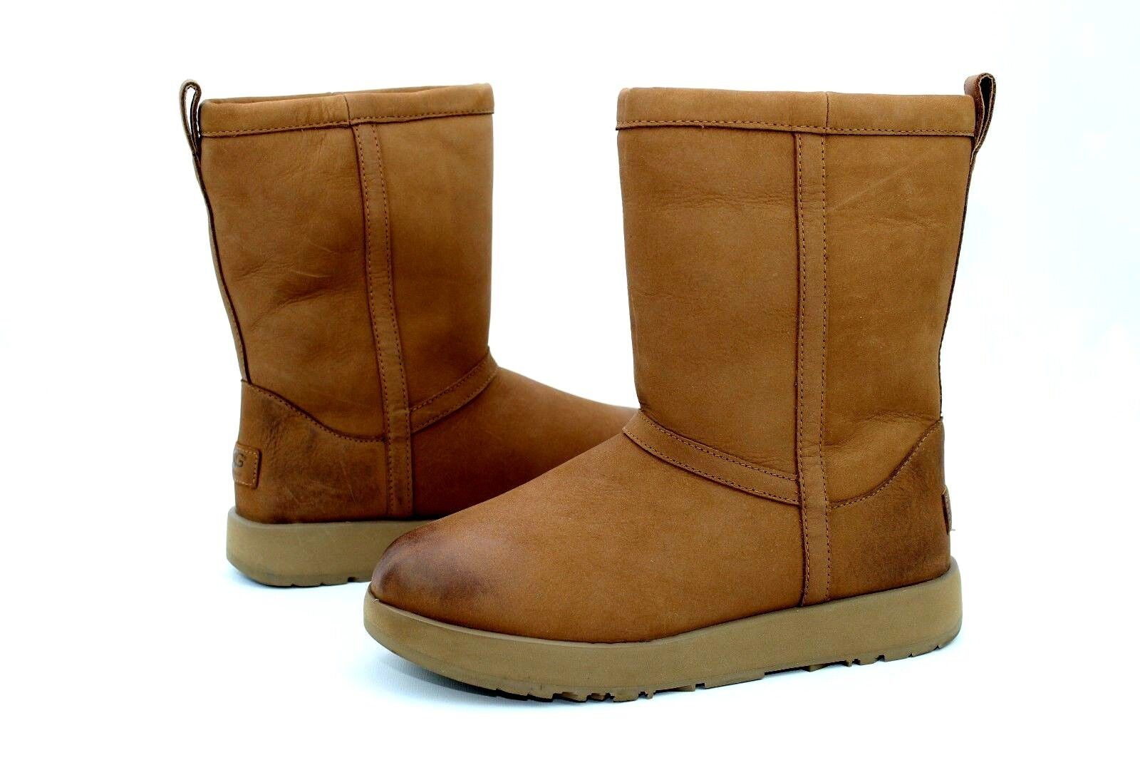 5ef2858ce6e UGG Classic Short Leather Waterproof Chestnut Sheepskin Womens BOOTS Size  US 8