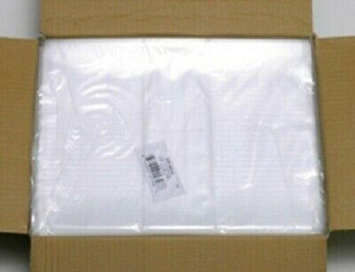 100 200 300 500 14x16 1Mil Elkay Plastics Lay Flat Clear Open Top End Poly Bags