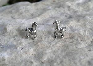 Image Is Loading Small Solid Sterling Silver Horse Stud Earrings