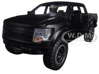 2011 Ford F-150 Svt Raptor Pickup Truck Matt Black 1/24 Model Car By Jada 96867