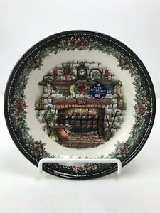 Royal-Stafford-Christmas-Eve-8-Pasta-Bowl-Fireplace-Hearth-1791-New