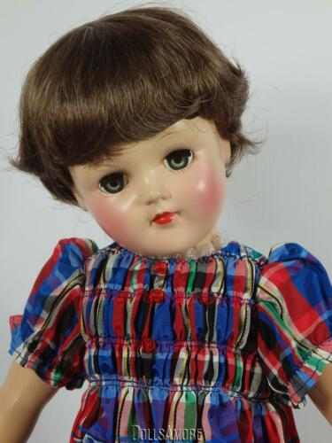 """DOLL WIG BROWN SIZE 11//12"""" FITS TONI P93 VINTAGE AND MODERN DOLLS"""